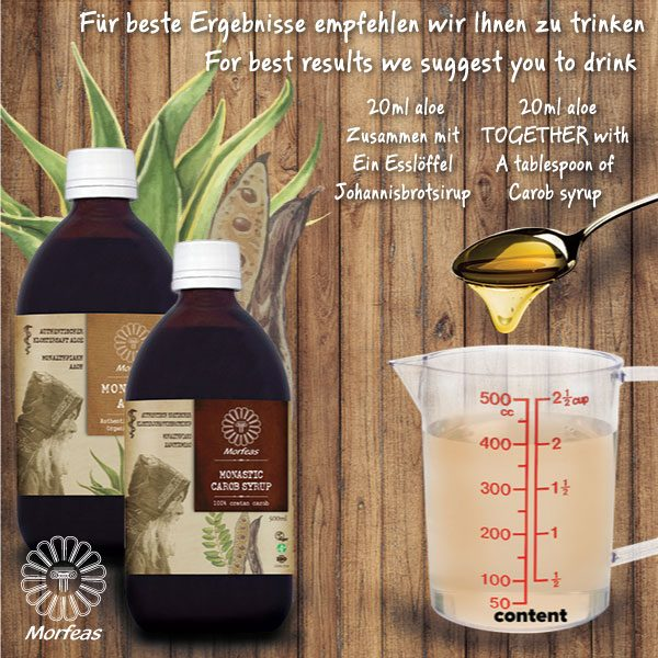 Monastic  Aloe from Crete island, with complete gel, without adding water or other juices. 500ml